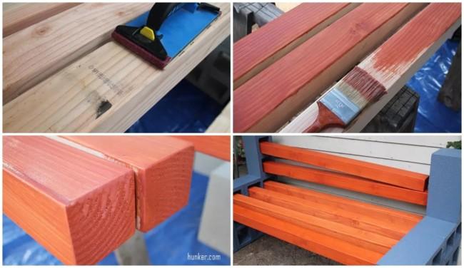 como fazer banco de madeira passo a passo