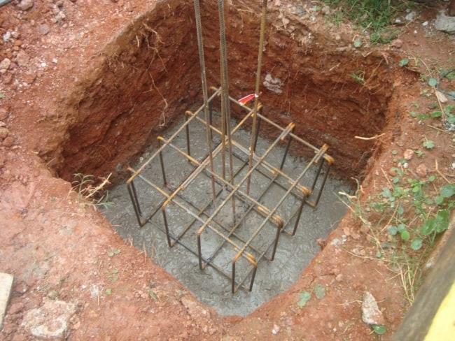 usos de sapata isolada na construcao