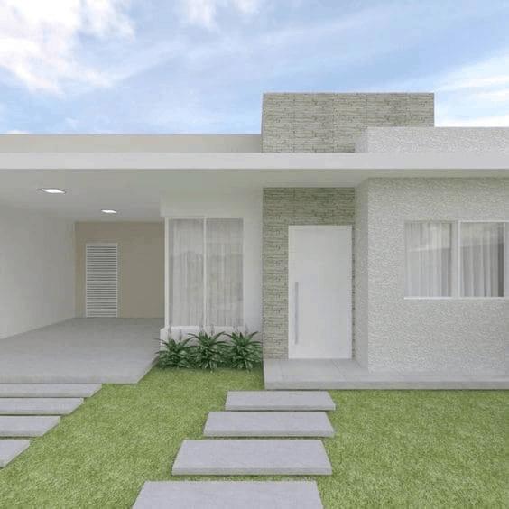 projeto de casa moderna com garagem