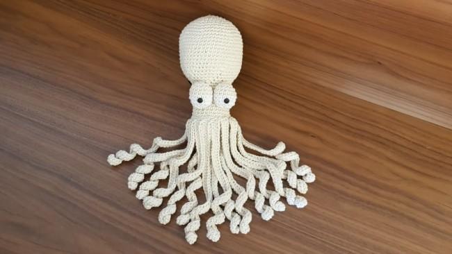 polvo de barbante com tentaculos longos