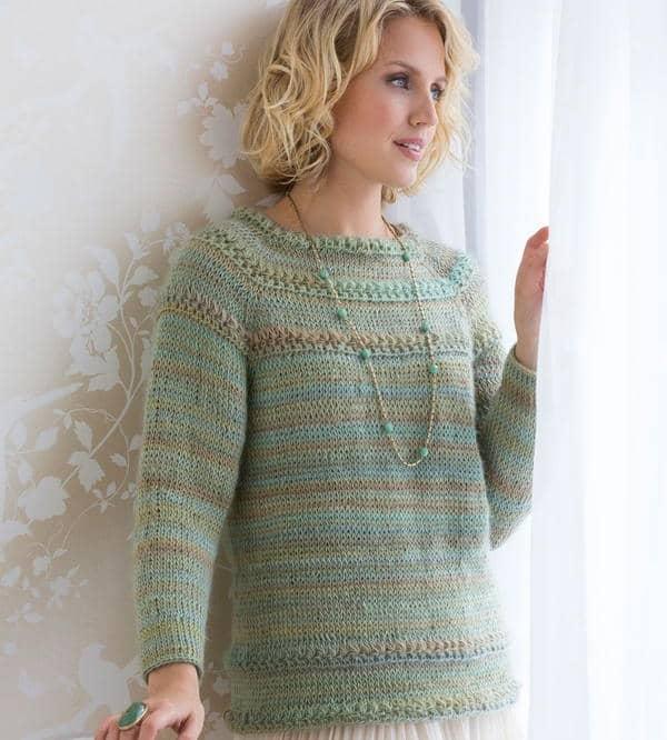 blusa de frio de croche tunisiano