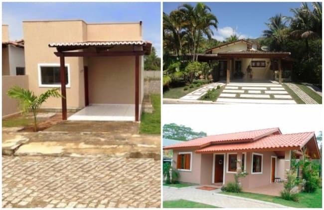 fachadas de casas pequenas e simples com garagem
