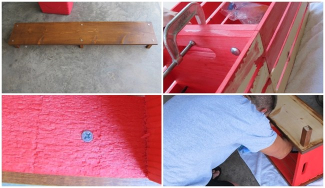 como fazer banco com caixotes de madeira passo a passo