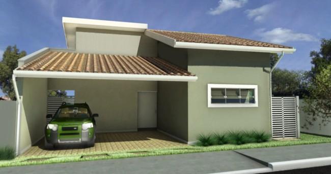 casa terrea pequena com garagem