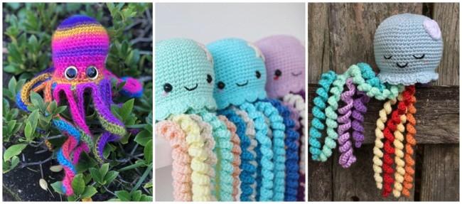 modelos de polvo de croche coloridos