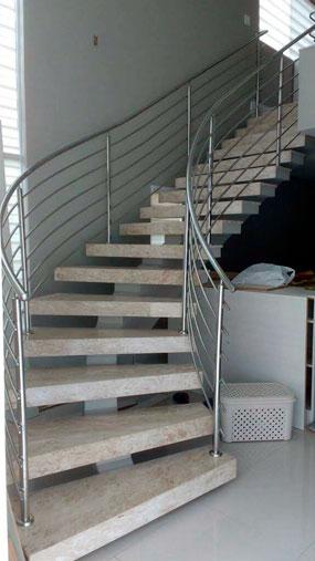 escada pre moldada curva