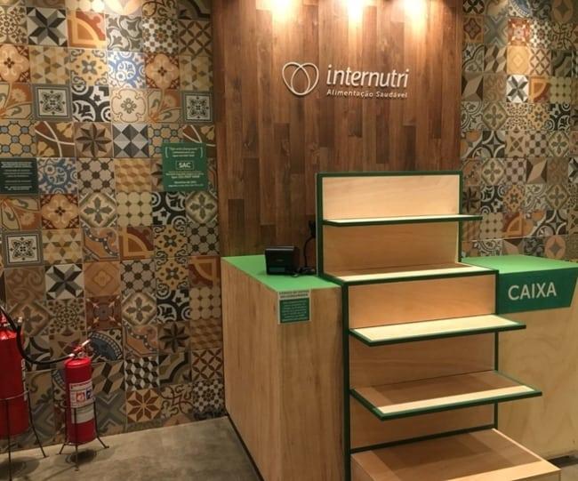 modelo de balcao caixa para loja de produtos naturais
