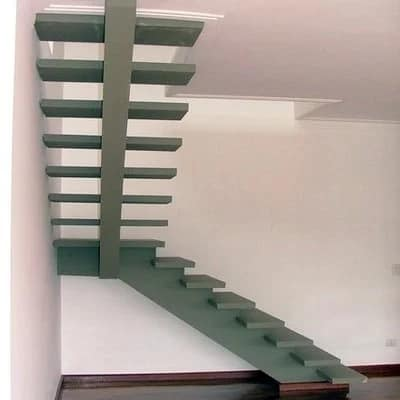 escada de concreto pre moldado em L