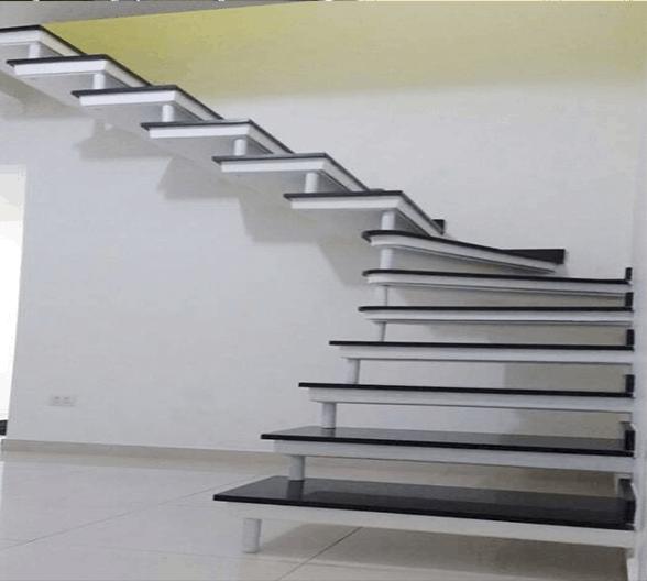 escada simples em L pre moldada