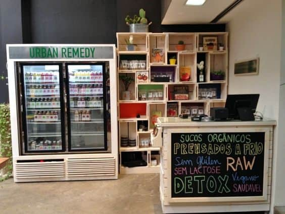 balcao pequeno para lojas de produtos naturais