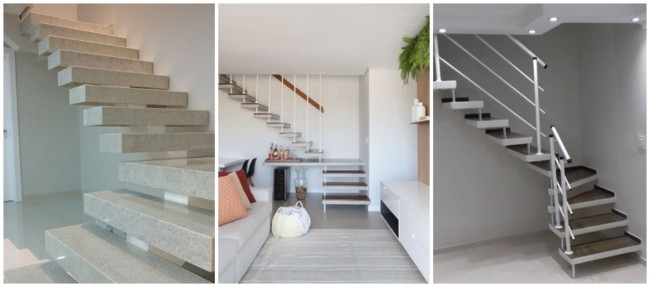 escada pre moldada em L