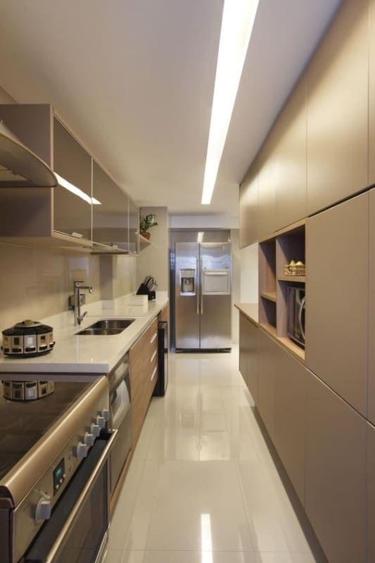 projeto de cozinha pequena com forro de gesso