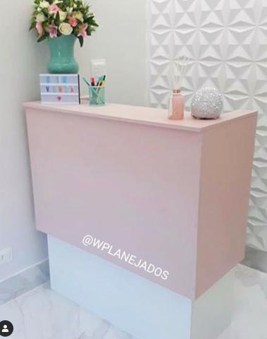 caixa balcao rosa para loja pequena