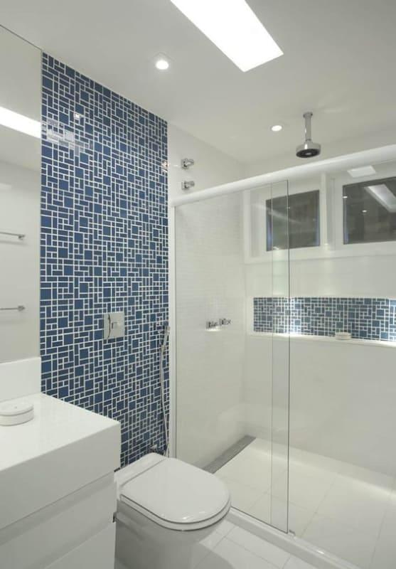 projeto de banheiro com forro de gesso