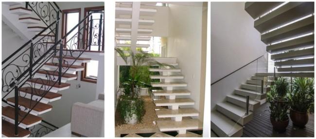 escada pre moldada em U