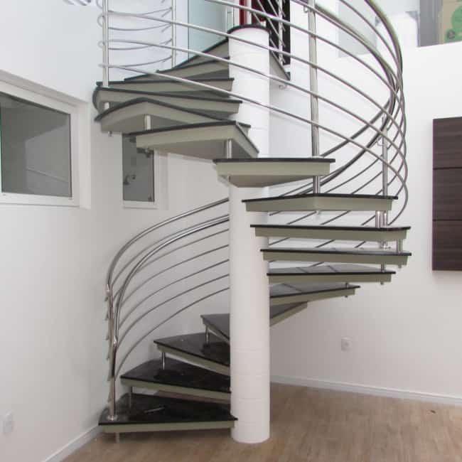 escada pre moldada helicoidal