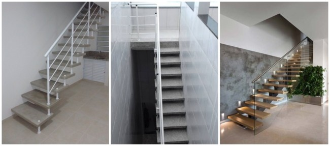 escada pre moldada reta