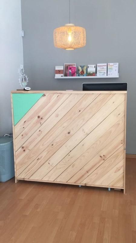 balcao simples de madeira pinus