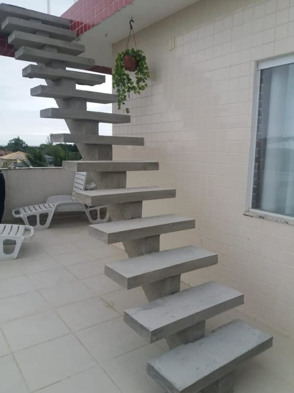 escada de concreto reta pre moldada