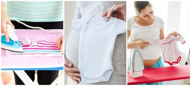 como passar roupa de bebe