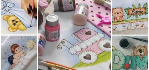 pintura em fraldas