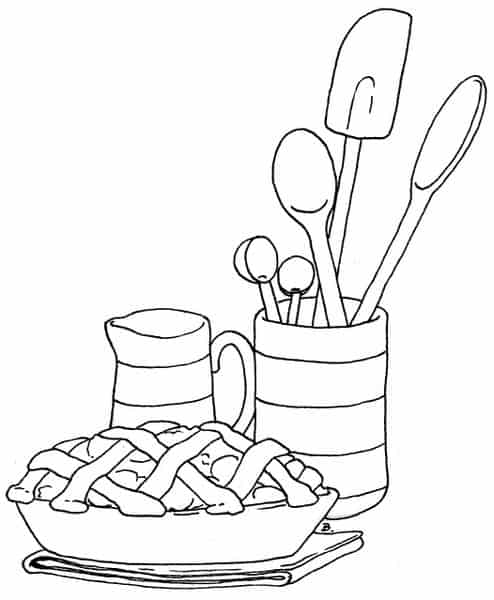 tema de cozinha para riscar pano de pintura