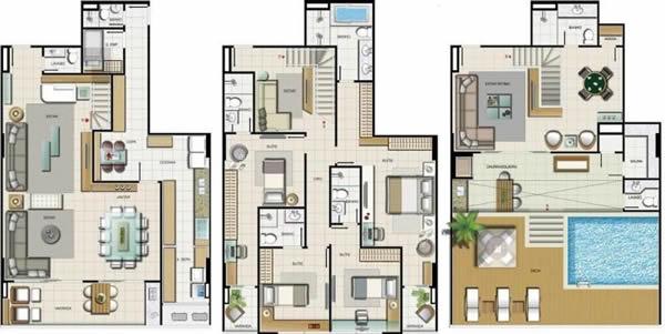 projeto de sobrado com 5 dormitorios