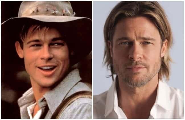 antes e depois de cirurgia de otoplastia Brad Pitt