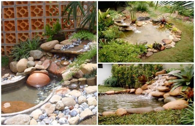 cascata para jardim pequeno
