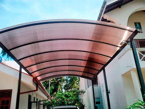 toldo de policarbonato para cobertura de garagem
