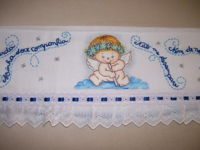 fralda de bebe com pintura de anjinho
