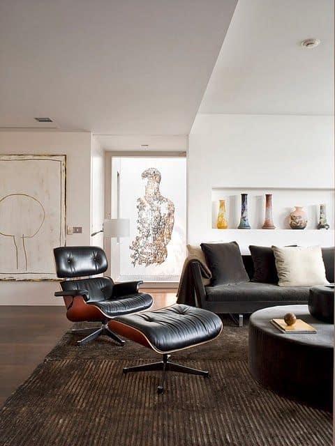 decoracao de sala com poltrona Charles Eames
