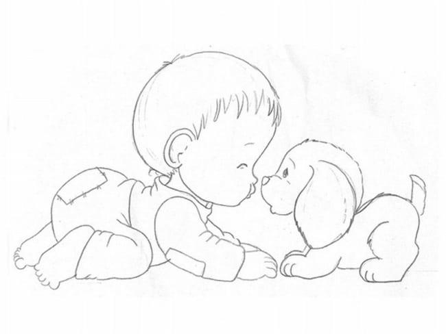 risco de bebezinho para pintura em tecido
