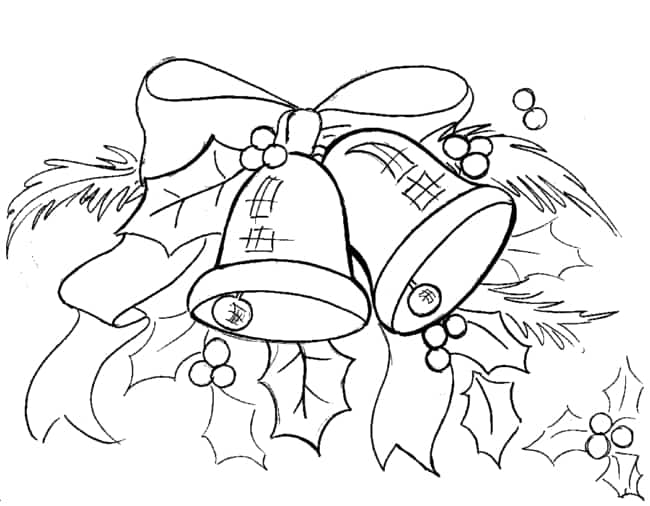 risco natalino com sinos para pintura de pano