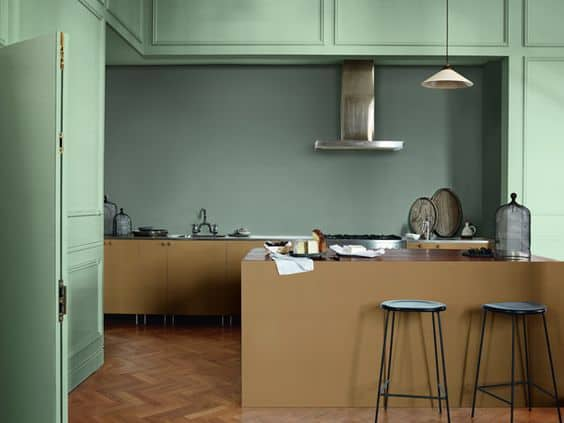 projeto de cozinha moderna com cor caramelo
