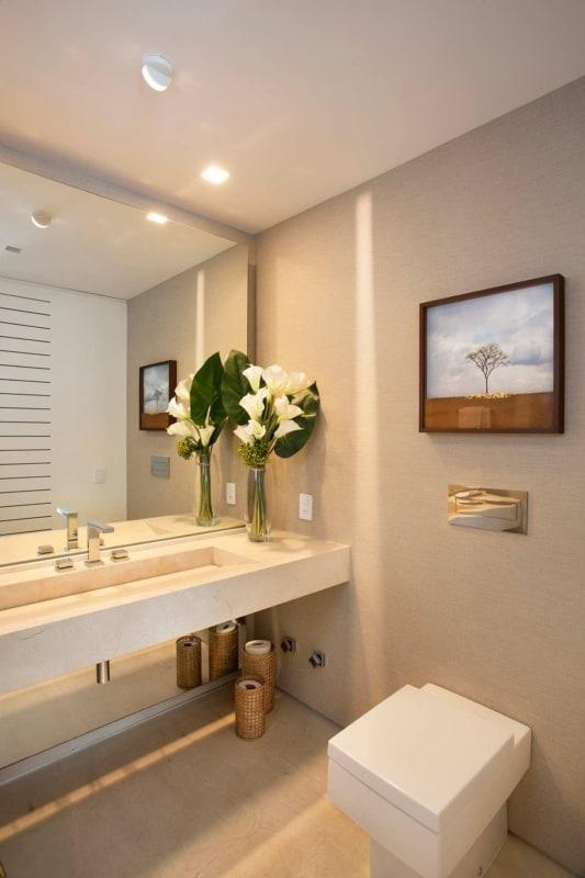 banheiro clean cor areia