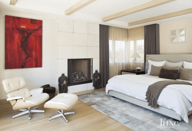 decoracao de quarto clean com poltrona Charles Eames
