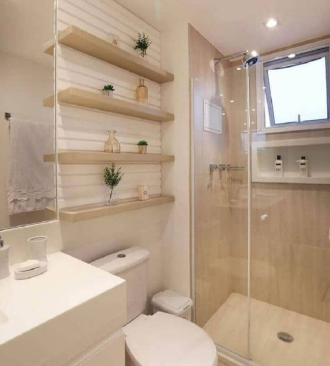 banheiro cor areia