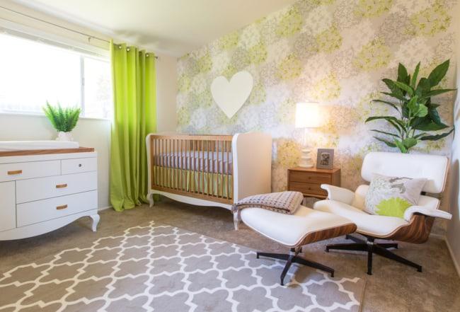 decoracao de quarto de bebe com poltrona Charles Eames