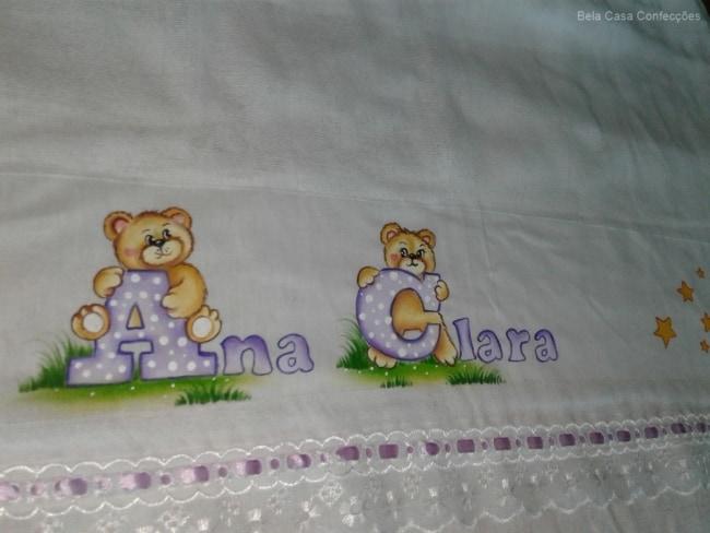 fralda de bebe com nome pintado