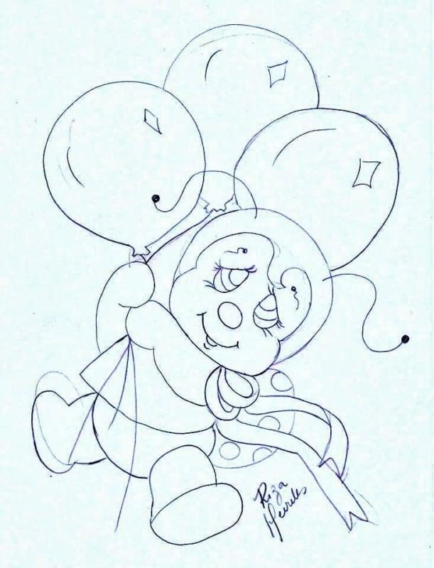 desenho de joaninha para pintura em pano