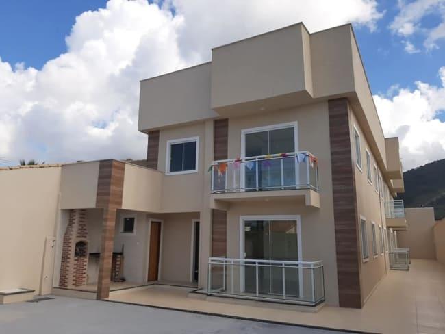 fachada de casa cor areia