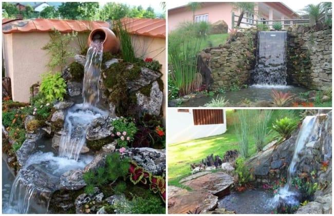 cascata para jardim externo