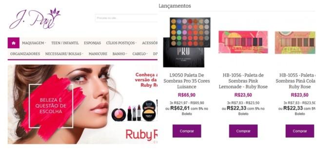 site para comprar maquiagem no atacado