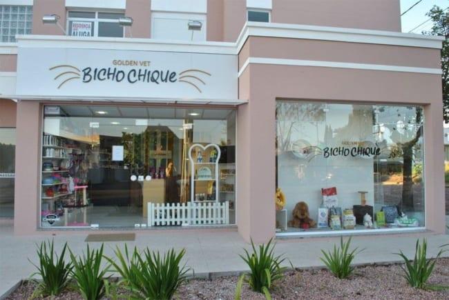 Bela fachada de Pet shop