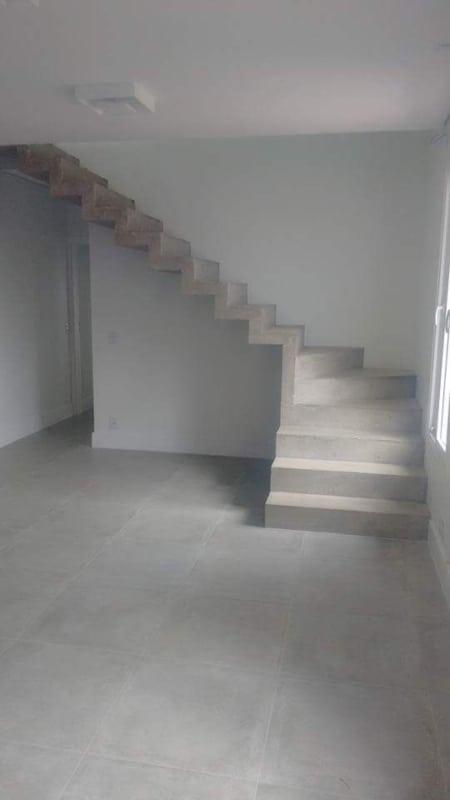 Construcao da escada plissada em L