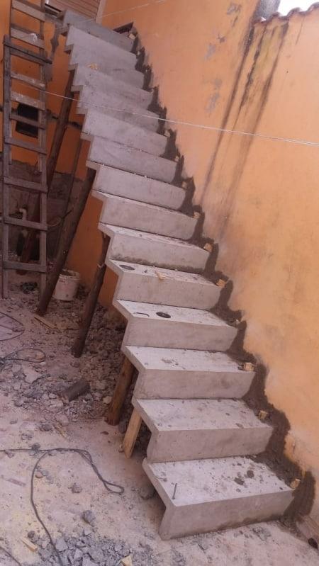 Construcao de escada cascata reta