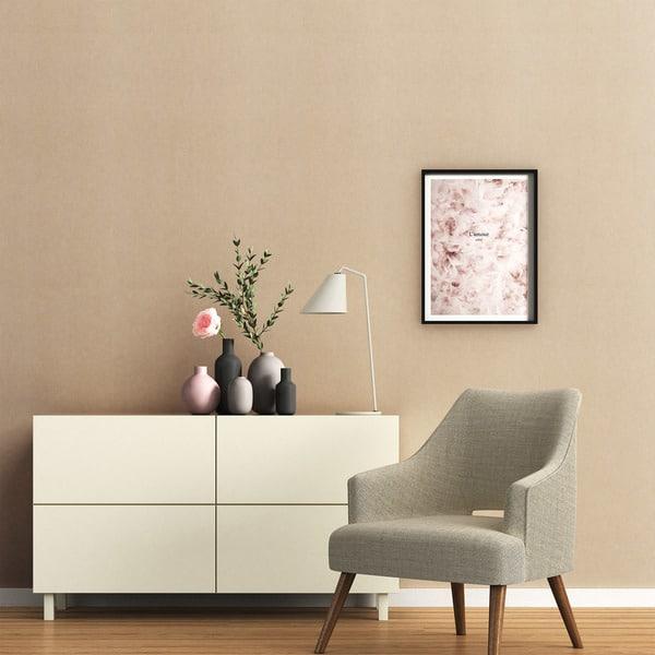 Decoracao minimalista com parede camurca