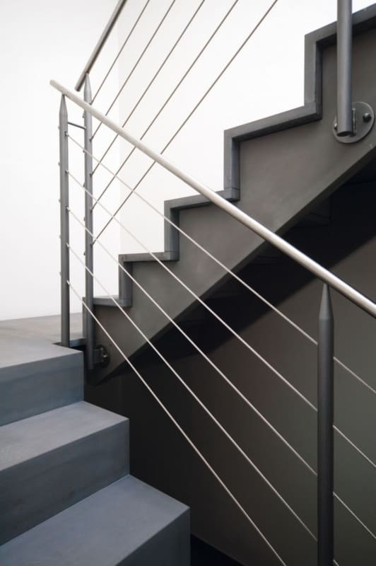 Detalhe da escada em U
