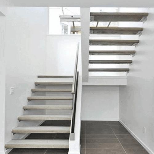 Escada de concreto no modelo U